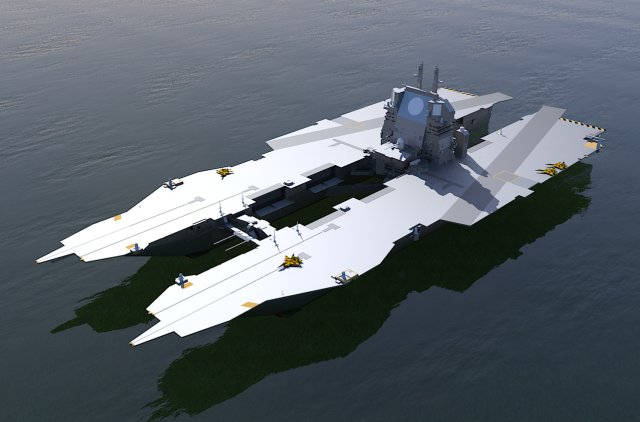 Trimaran Aircraft Carrier http://www.dedoimedo.com/art_3d/carrier-new.html