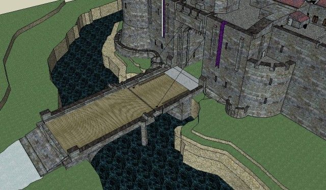 Norman castle drawbridge view 2