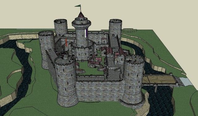 how to draw a norman castle