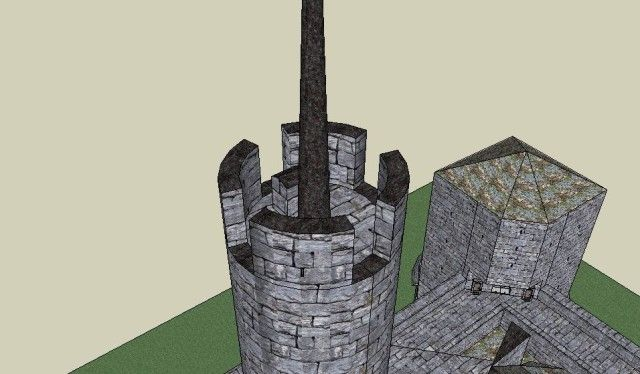 Castle keep tower