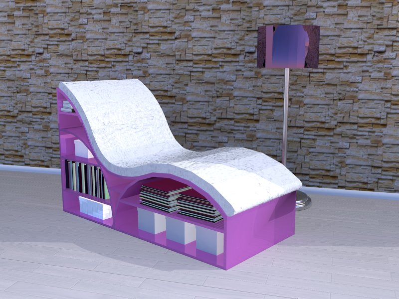 Chaise 22, pink, awesome