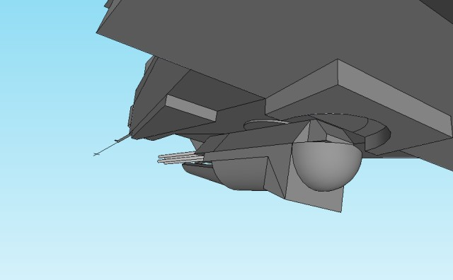 Helicopter chin turret