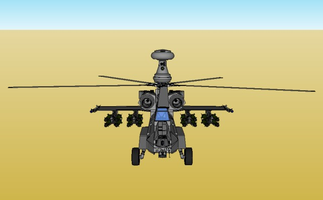 Helicopter front top low