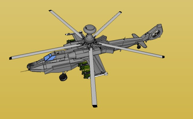 Helicopter left top