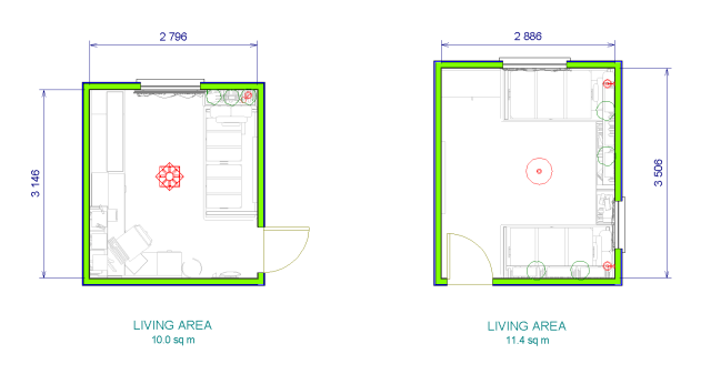Rooms plans
