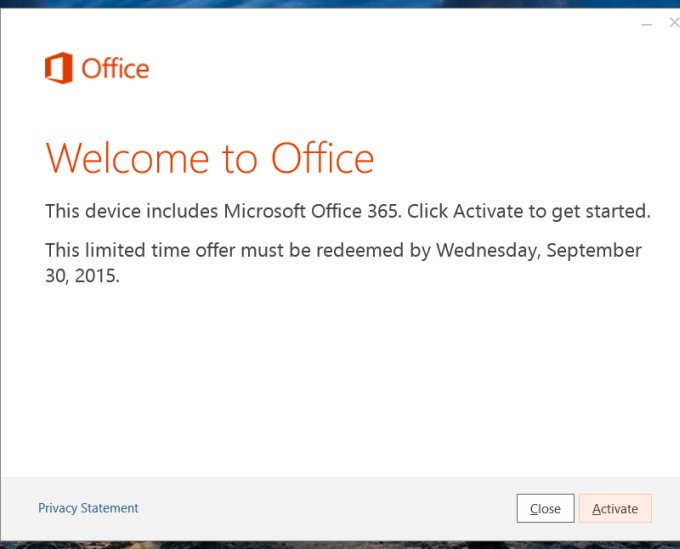 Activate Office 365
