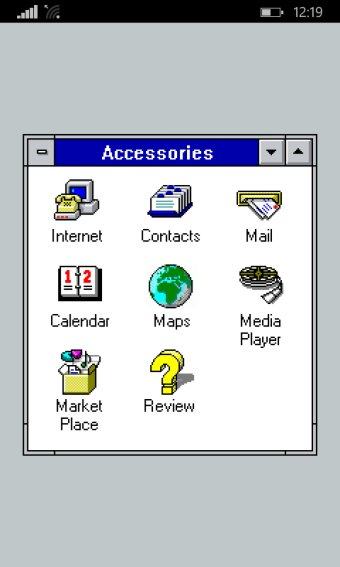 Windows 3.1 running