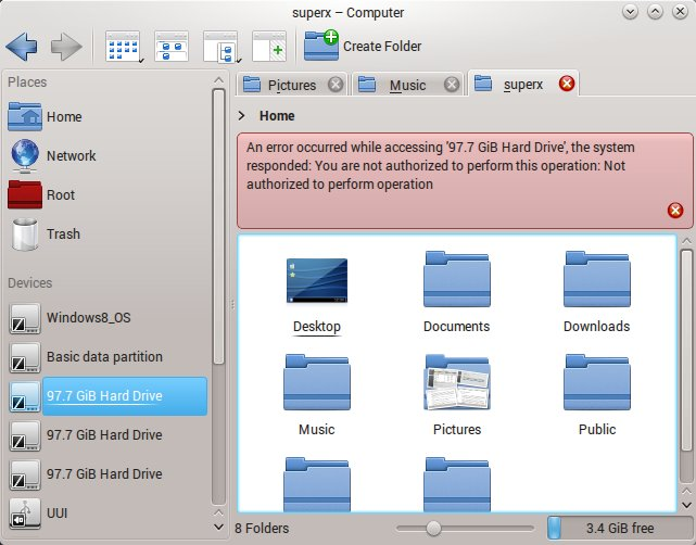 Cannot mount partitions