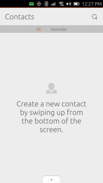 Manual contacts setup