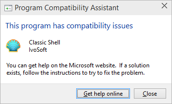Classic Shell cannot run