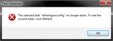 Deleted tasks error