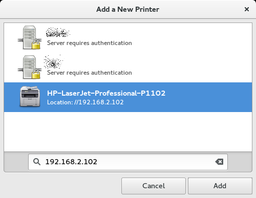 Printer can be added now