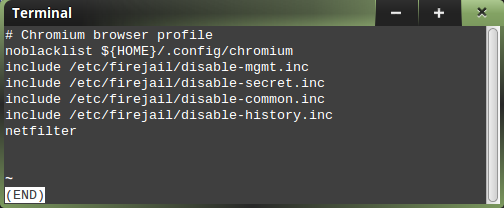 Chromium profile