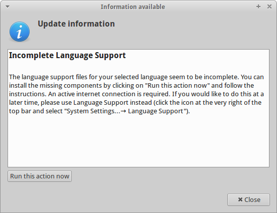 Language support nonsense