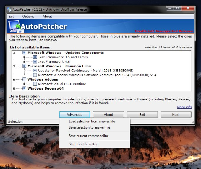 Autopatcher - Fix for slow Windows Updates