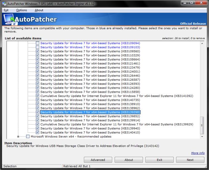 Autopatcher - Fix for slow Windows Updates