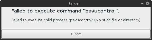 Pavucontrol missing