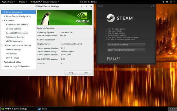 Fedora 23, Nvidia & Steam - Problems and fixes