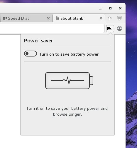 Power saving, turn on