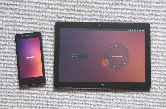 Side by side with the Ubuntu Phone