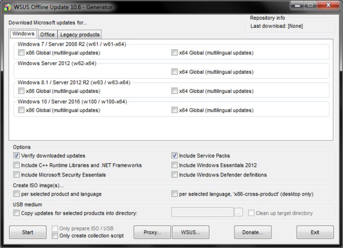 wsus offline update cleanup download directories