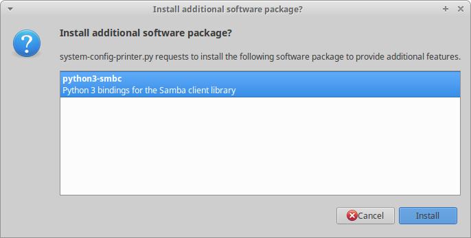 Smb package, why