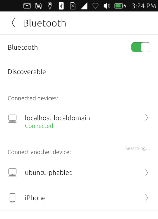 BT setup, Ubuntu Phone
