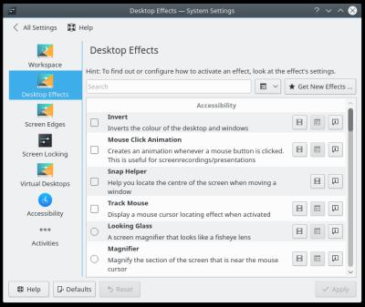Plasma is sluggish? Disable desktop effects