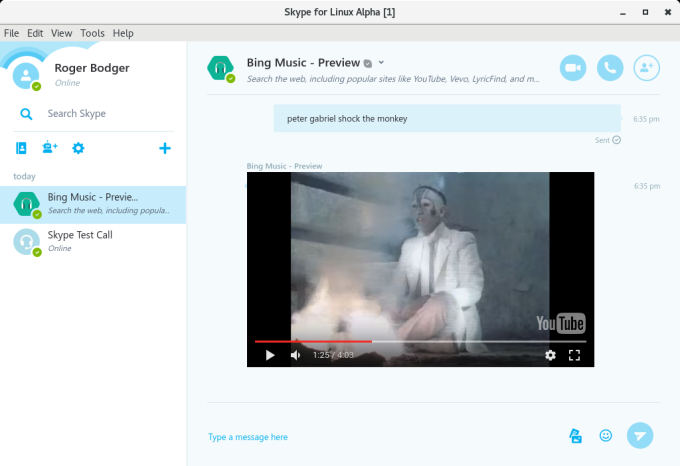The new and brave Skype for Linux ... calls, too