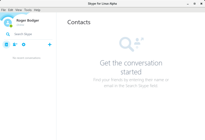 The new and brave Skype for Linux     calls, too