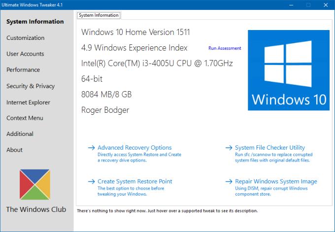 Ultimate Windows Tweaker - Taming the Shrew