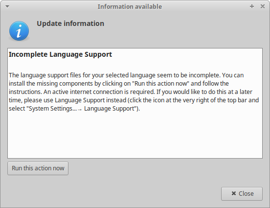 Language support, what
