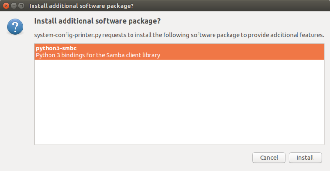 Missing Samba dependencies, package management works now