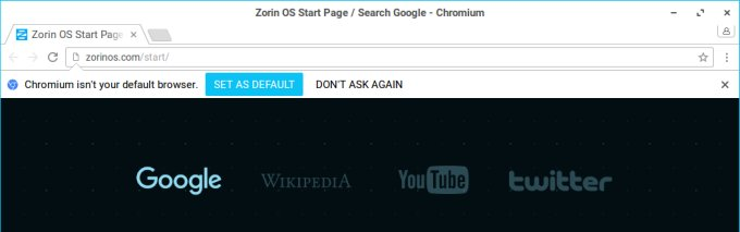 Chromium, not a default browser, what