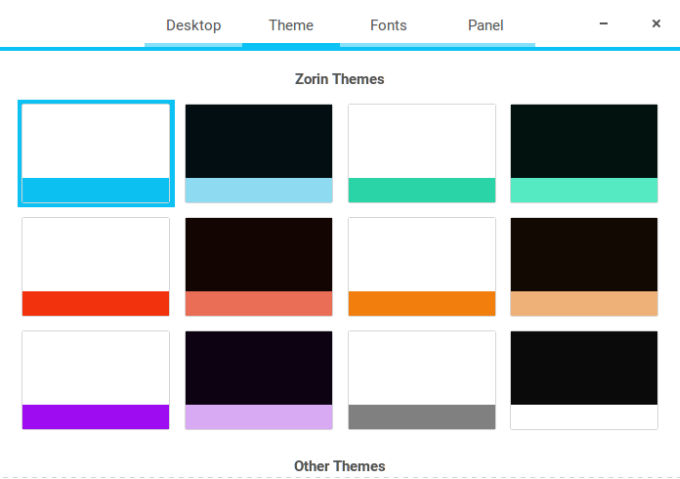 Themes, too flat, too abstract