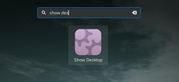 Show desktop search, zoomed