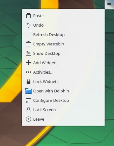 Desktop actions