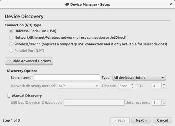 Device Manager, step 1