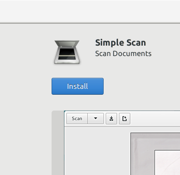 Simple Scan install