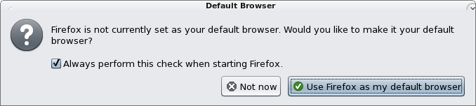Firefox warning