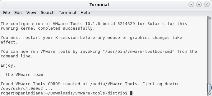 VMware Tools worked