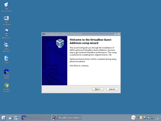 Virtualbox wizard