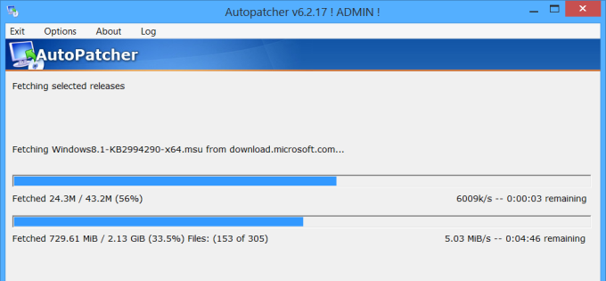 Autopatcher fix for slow windows updates.