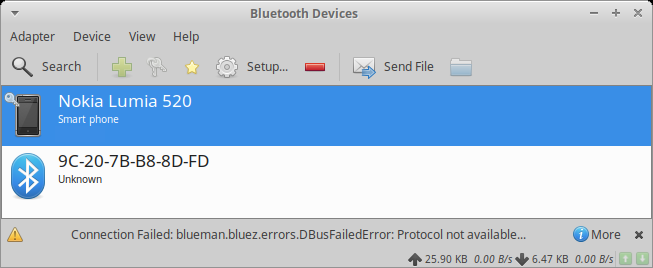Bluetooth, failed to connect