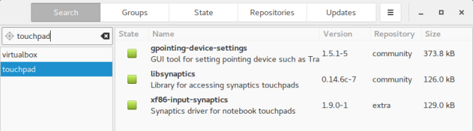 Touchpad, install utility
