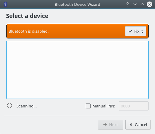 Bluetooth disabled