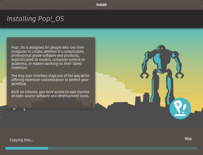 POP!_OS - Ubuntu, bang, curtain