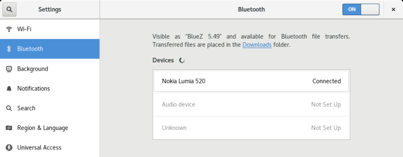 Bluetooth, connected