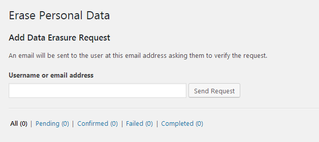 privacy policy template erase user data