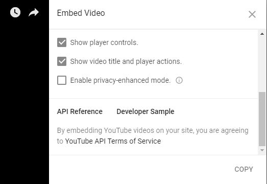 Youtube, enhanced privacy mode